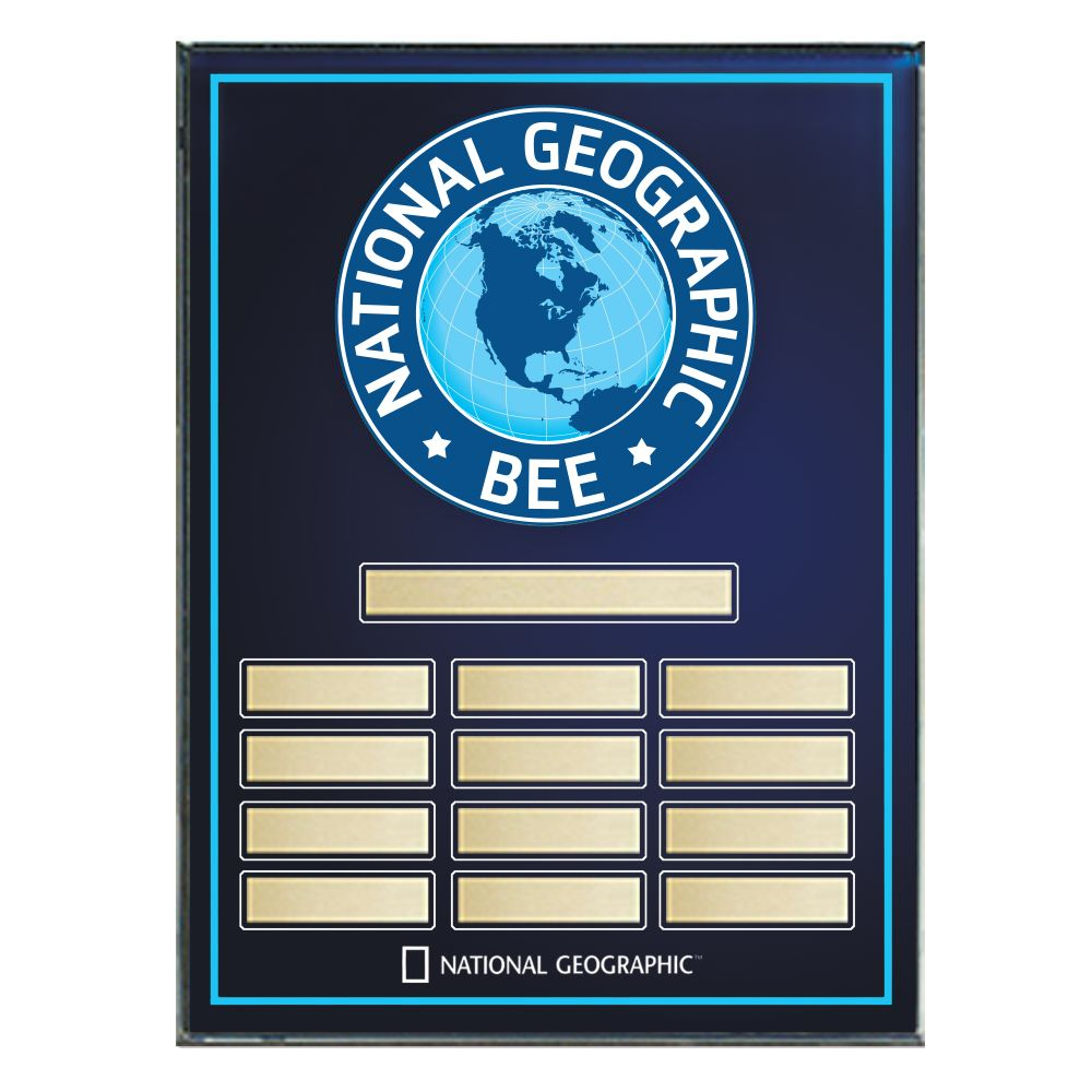 National Geographic Bee Award Plaque  National Geographic