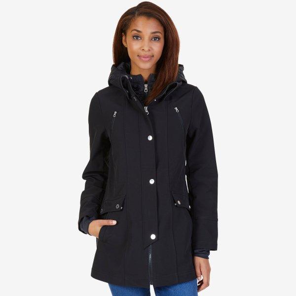 Nautica Womens Colorblock Anorak Jacket