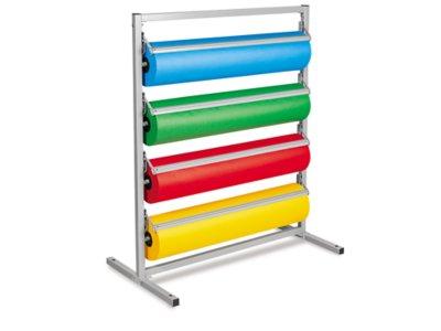 butcher paper 4 roll holder cutter floor rack