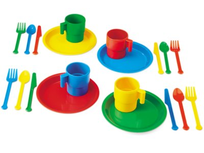 Indestructible Play Dishes 4 Service Set At Lakeshore