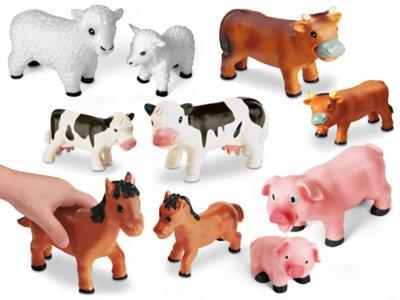 soft squeezy farm animals