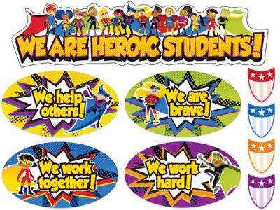 Superhero Students Bulletin Board Set At Lakeshore Learning