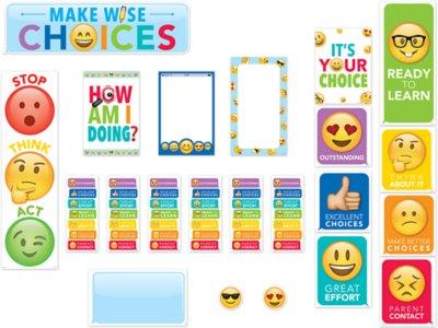 Close window also emoji fun behavior management bulletin board set at lakeshore learning rh lakeshorelearning