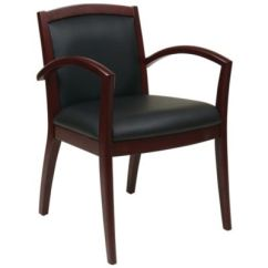 Wood Office Chair Tufted Leather Wooden Chairs Seating Officechairs Com Napa Frame Eco Guest Ch51097