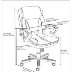 Ergonomic Chair Dimensions Grey Accent With Ottoman Petite Low Height Computer W Memory Foam Seat Officechairs Com Img