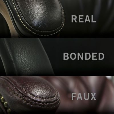 Real vs Bonded vs Faux Leather ChairsSofas  OfficeChairscom