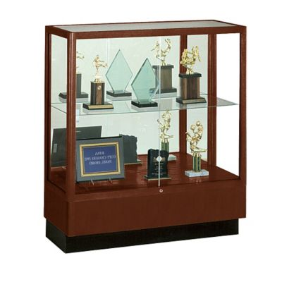 Counter Height Mirror Display Case by Waddell