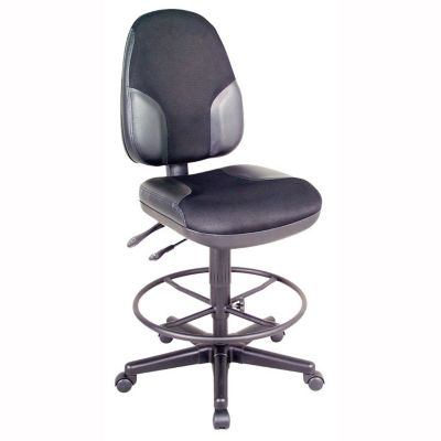 Monarch Armless Leather Drafting Stool By Alvin