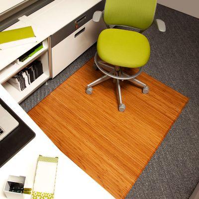 bamboo chair mat beauty salon hair washing tri fold 47x60 by anji mountain officefurniture com 3 8 w x 5 d