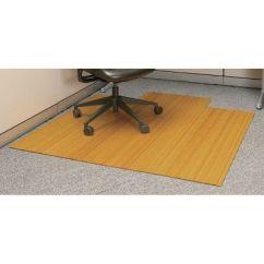 Bamboo Chair Mat Ergonomic Drafting Canada Standard Lip 55x57 By Anji Officefurniture Com