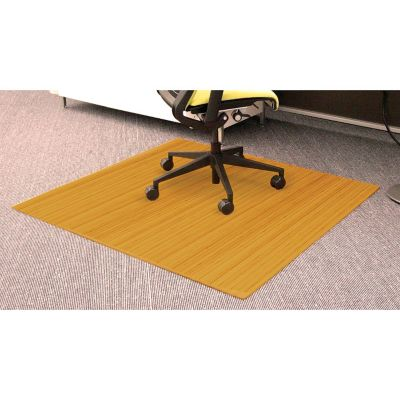 bamboo chair mat contemporary leather dining chairs with arms standard 48 x 52 5mm thick officefurniture com
