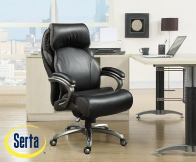 serta bonded leather executive chair ergonomic store san jose big and tall office 8825949