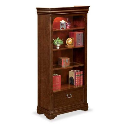 4 Shelf Open Bookcase With File Drawer By Nbf
