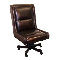 Prestige Armless Desk Chair in Leather - 8803788 ...