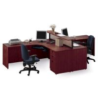 "142""W Harmony Collection Two Person Workstation"