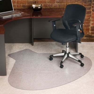 Workstation Shaped Chair Mat  66 x 60  OfficeFurniturecom