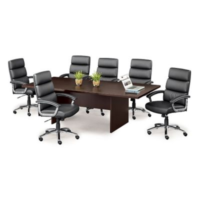 meeting room chairs desk chair floor protector conference for meetings officefurniture com faux leather set of six 8804313