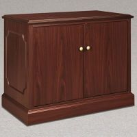 Traditional Mahogany Laminate Storage Cabinet