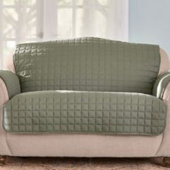 Quilted Microsuede Sofa Cover Kenton Fabric Sectional Microfiber Furniture Protector Blair Offer Details