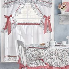 Kitchen Curtain Sets Franke Faucet Set Coordinates Window Coverings Blair 3 Ashley Ensemble