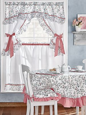 kitchen curtain sets red rugs and mats set coordinates window coverings blair 3 ashley ensemble