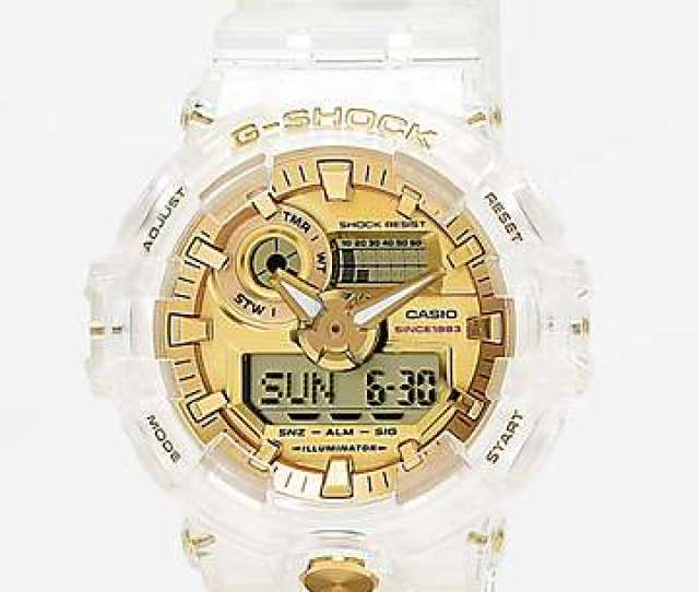 G Shock Ga735 Skeleton Gold Watch