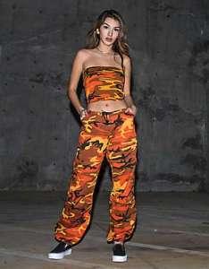 Rothco orange camo bdu pants also women   leggings zumiez rh