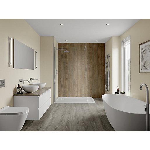 Multipanel Linda Barker Bathroom Wall Panel Hydrolock 2400 X 598mm Salvaged Plank Elm City Plumbing Supplies