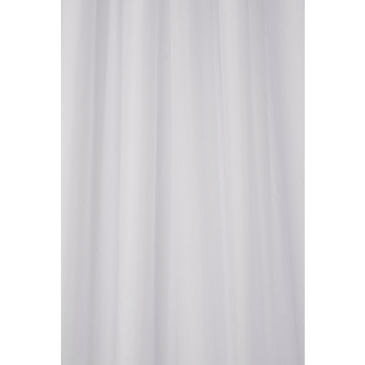 croydex hook and hang shower curtain white