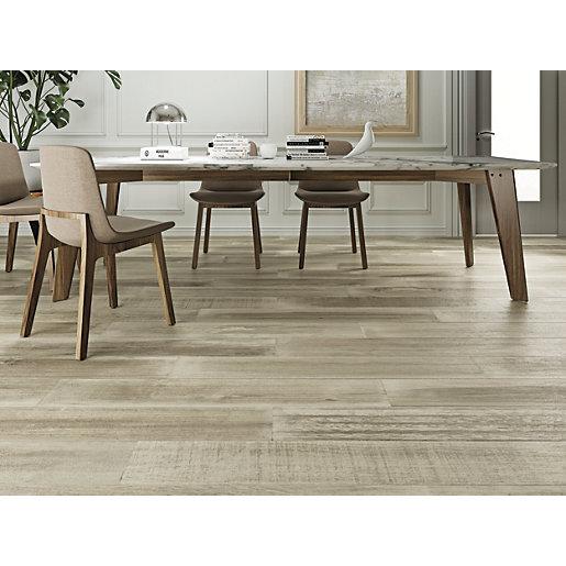 wickes boutique oslo oak glazed porcelain wood effect wall floor tile 1200 x 200mm