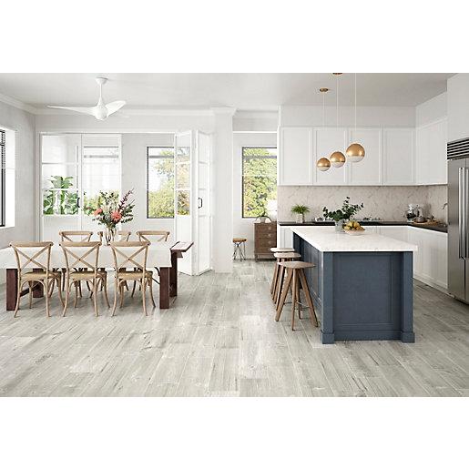 wickes maine grey wood effect porcelain wall floor tile 225 x 900mm