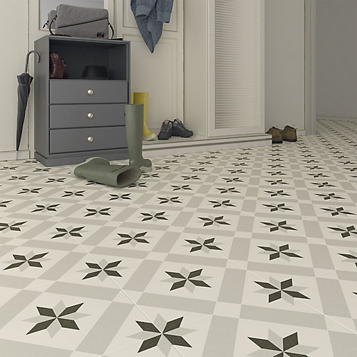 wickes canterbury patterned porcelain wall floor tile 300 x 300mm pack of 13
