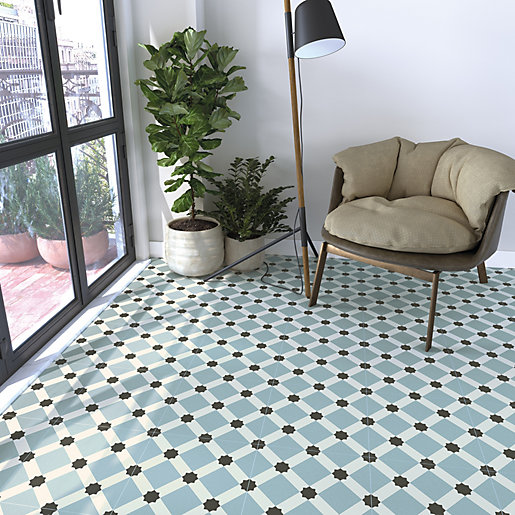 wickes hoxton patterned porcelain wall floor tile 300 x 300mm pack of 13