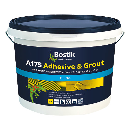 bostik ready mixed tile adhesive grout 10l white
