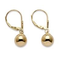 Palmbeach Jewelry Ball Drop Earrings in 14k Yellow Gold | eBay