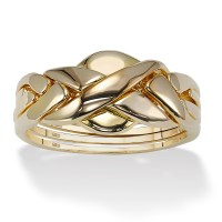 Palmbeach Jewelry 18K Yellow Gold Over 925 Sterling Silver