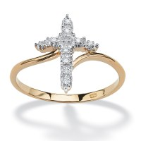 Palmbeach Jewelry Diamond 18K Yellow Gold Over 925