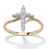 Palmbeach Jewelry Diamond 18K Yellow Gold Over 925 ...