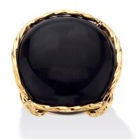 Palmbeach Jewelry Cabochon Shaped Genuine Black Onyx 14k ...