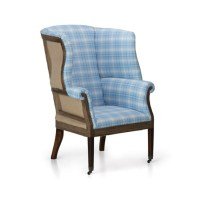 Hepplewhite Wing Chair, Deconstructed Back - Chairs ...