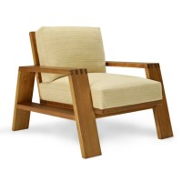 Desert Modern Wood Club Chair - Furniture - Products ...