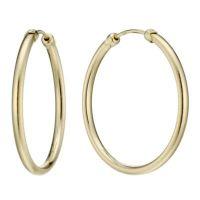 9ct Gold 26mm Medium Gauge Hoop Earrings | H.Samuel