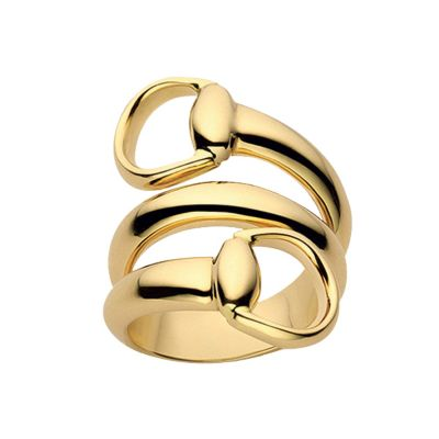 Gucci 18ct yellow gold horsebit ring  Ernest Jones