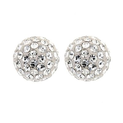 8mm Glitter Stud Earrings