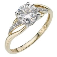 9ct Yellow Gold Cubic Zirconia Wrap Ring | H.Samuel