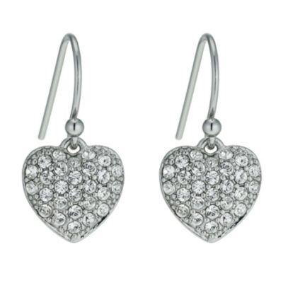 Radiance With Swarovski Crystal Heart Drop Earrings