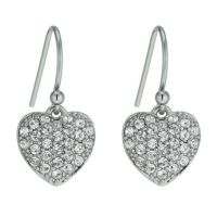 Radiance With Swarovski Crystal Heart Drop Earrings