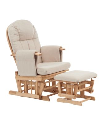 maternity rocking chair ergonomic drafting with arms mothercare natural reclining glider beige cushions