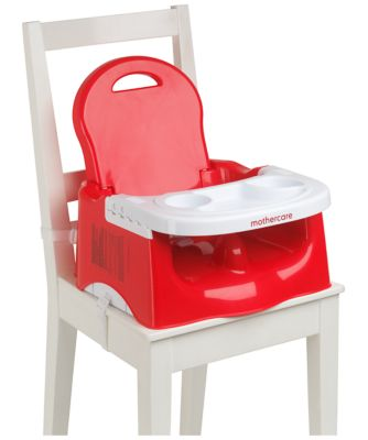mothercare travel high chair booster seat fishing toy wow creative with tray red boosters