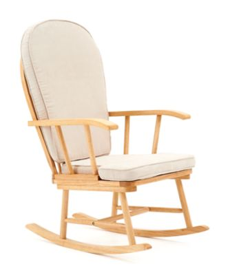 maternity rocking chair desk for tall person nursing chairs mothercare with beige cushion natural